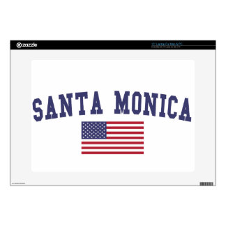 Santa Monica US Flag Laptop Decal