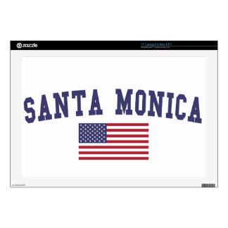 Santa Monica US Flag Laptop Skins