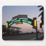 Santa Monica Yacht Harbor Mouse Pad