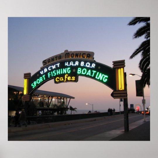 Santa Monica Yacht Harbor Poster