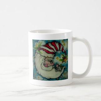 Santa Moon - Holiday Design Classic White Coffee Mug