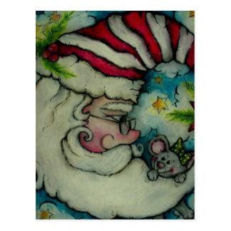 Santa Moon - Holiday Design Postcard