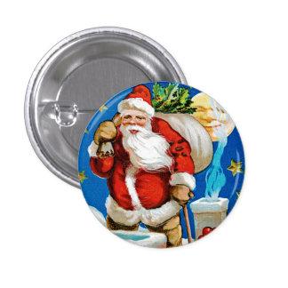 Santa Moon Pinback Button