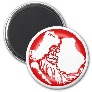 Santa Moon Red Magnet