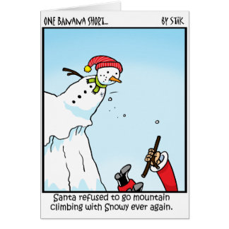 Santa Mountain Climbing Card