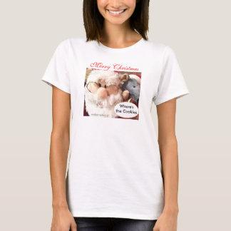 Santa Mouse Shirt-W-customize T-Shirt