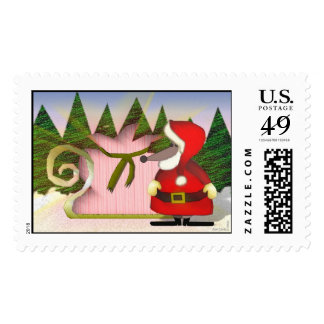 Santa Mouse stamp