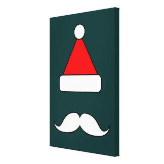 Santa Moustache Canvas Print