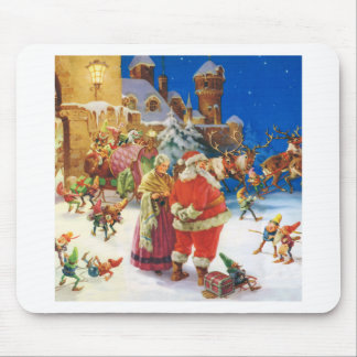 SANTA MRS CLAUS AT THE NORTH POLE CASTLE MOUSE PAD