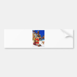 Santa & Mrs. Claus at the North Pole Christmas Eve Bumper Sticker