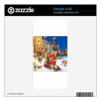 Santa & Mrs Claus at the North Pole, Christmas Eve Decal For iPhone 4