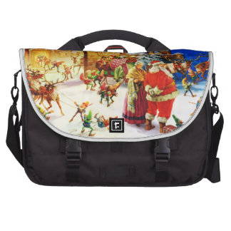 Santa & Mrs. Claus at the North Pole Christmas Eve Laptop Bag