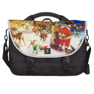 Santa & Mrs. Claus at the North Pole Christmas Eve Bags For Laptop