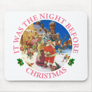 Santa & Mrs Claus At The North Pole, Christmas Eve Mouse Pad