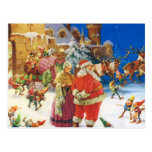 Santa & Mrs Claus at the North Pole, Christmas Eve Postcard