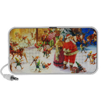 Santa & Mrs. Claus at the North Pole Christmas Eve iPod Speaker
