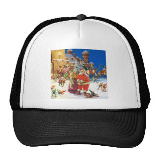 Santa & Mrs Claus at the North Pole, Christmas Eve Trucker Hat