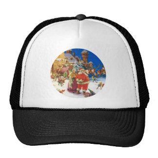 Santa & Mrs Claus At the North Pole Christmas Eve Trucker Hat