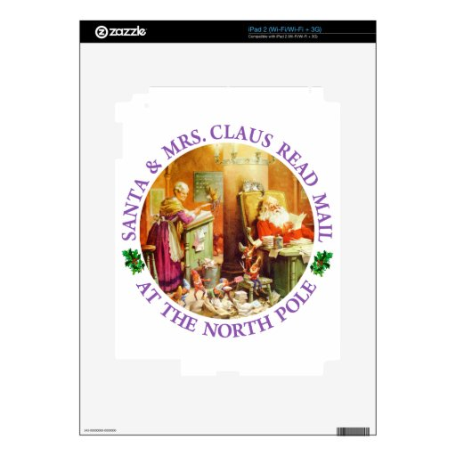 Santa & Mrs. Claus at the North Pole Decals For iPad 2