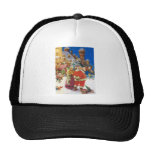SANTA & MRS.CLAUS AT THEIR NORTH POLE CASTLE TRUCKER HAT