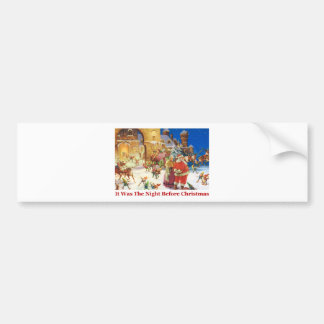 Santa & Mrs Claus Christmas Eve at the North Pole Bumper Sticker