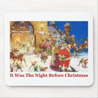 Santa Mrs Claus Christmas Eve at the North Pole Mousepad
