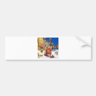 Santa & Mrs. Claus - Christmas Eve, The North Pole Bumper Sticker
