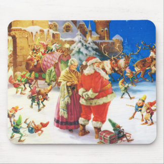 Santa & Mrs. Claus, Christmas Eve, The North Pole Mouse Pad