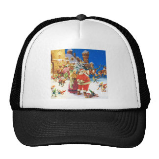 Santa & Mrs. Claus, Christmas Eve, The North Pole Trucker Hat