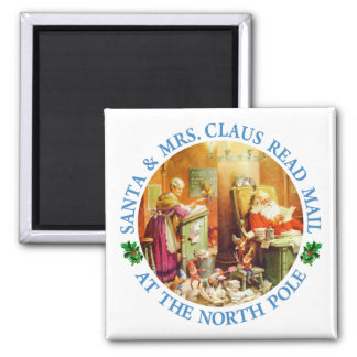Santa & Mrs. Claus Make a List and Check It Twice Refrigerator Magnets