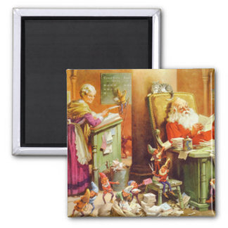 Santa & Mrs. Claus Make a List and Check it Twice Magnets