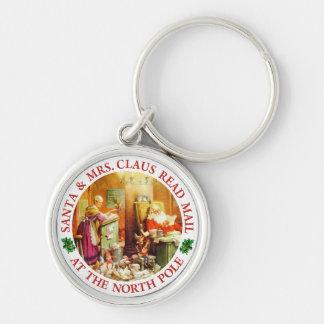 Santa & Mrs. Claus Make a List & Check It Twice Keychain