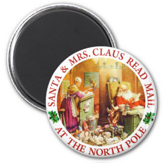 Santa & Mrs. Claus Make a List & Check It Twice Magnet