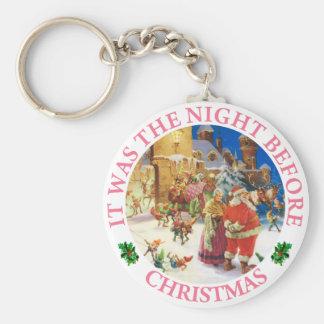 Santa & Mrs. Claus - North Pole, Christmas Eve Keychain