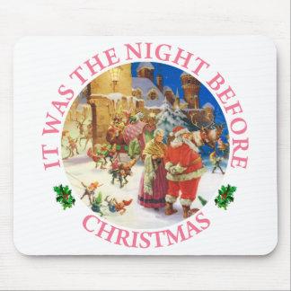 Santa & Mrs. Claus - North Pole, Christmas Eve Mouse Pad