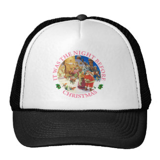 Santa & Mrs. Claus - North Pole, Christmas Eve Trucker Hat