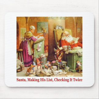 Santa & Mrs. Claus Read Mail at the North Pole Mouse Pad