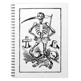 Santa Muerte, 1900s tempranos mexicanos del parca  Cuaderno