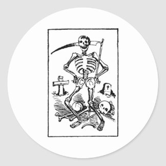 Santa Muerte, 1900s tempranos mexicanos del parca Pegatina Redonda