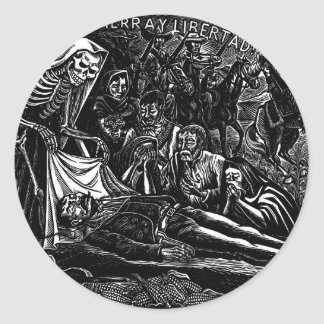 Santa Muerte and the Soldier c. 1951 Mexico Classic Round Sticker