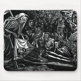 Santa Muerte and the Soldier c. 1951 Mexico Mouse Pad