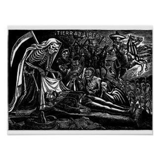 Santa Muerte and the Soldier c. 1951 Mexico. Poster