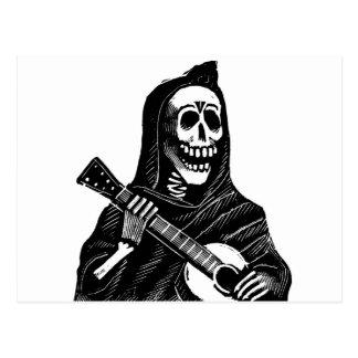 Santa Muerte con la guitarra circa 1900s tempranos Postales