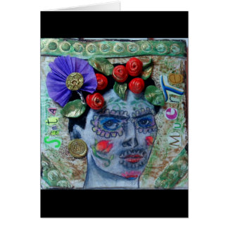 Santa Muerte Day of the Dead Greeting card