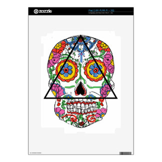 Santa Muerte en un triángulo Calcomanías Para iPad 2