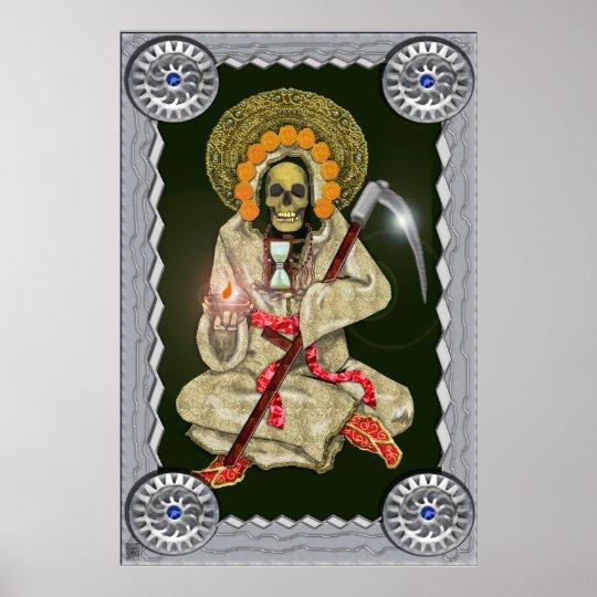 santa muerte (golden) poster