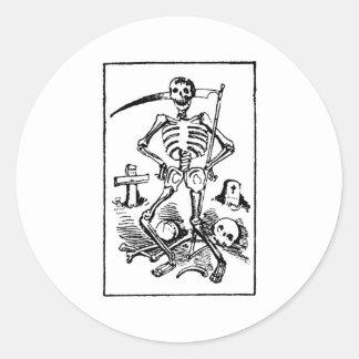 Santa Muerte, Mexican Grim Reaper c. early 1900s Classic Round Sticker