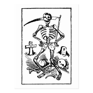 Santa Muerte, Mexican Grim Reaper c. early 1900s Postcard