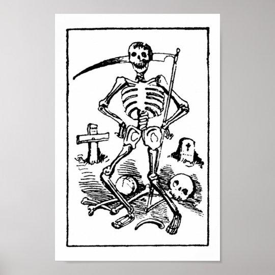 Santa Muerte, Mexican Grim Reaper c. early 1900s Poster