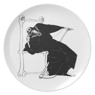 Santa Muerte (Mexican Grim Reaper) circa 1929 Dinner Plate